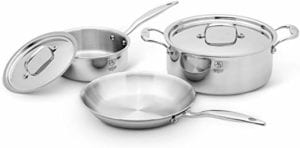 Heritage Steel 5 Piece Essentials Cookware Set