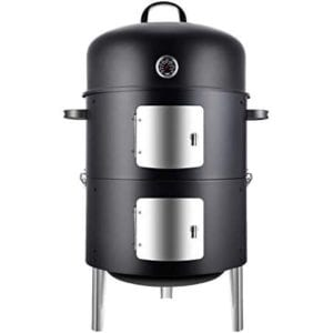 Realcook Vertical 17 Inch Steel Charcoal Smoker