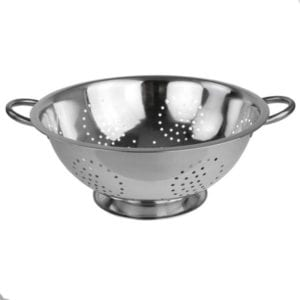 Home Basics Stainless Steel Deep Colander Strainer