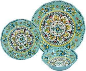 Le Cadeaux 16 Piece Luxury Melamine Dinnerware Set