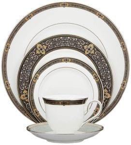 Lenox Unisex Vintage Jewel 5 Piece Boxed Set White Dinnerware