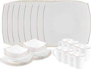 Matashi Opal Glassware White Dinnerware Set