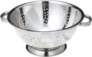 Stainless steel pasta strainer
