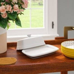 Traditional two-piece butter dish