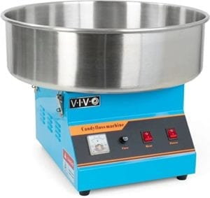 VIVO Blue Electric Commercial Cotton Candy Machine