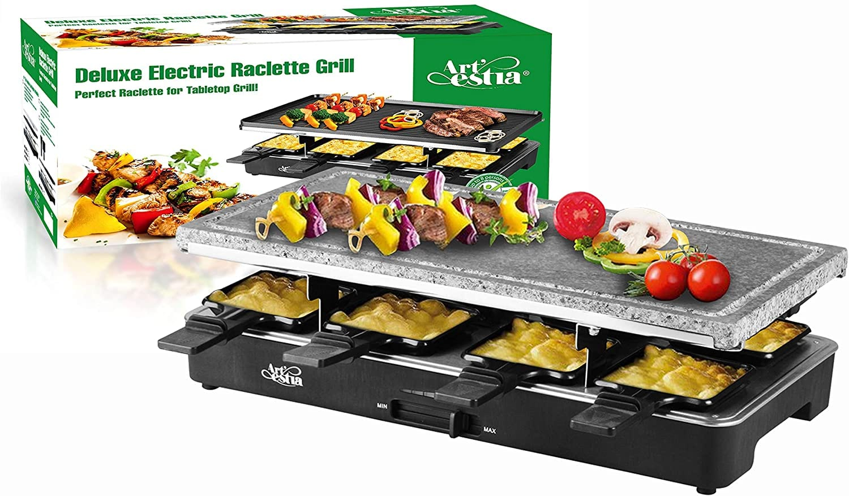 artestia lecrtic raclette grill tabletop bbq