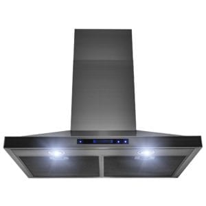 AKDY 30 in. Brushed Black Stainless Steel Wall Mount Kitchen Range Hood