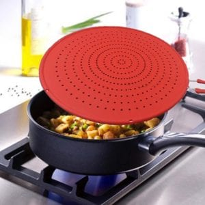 Silicone splatter guards for frying