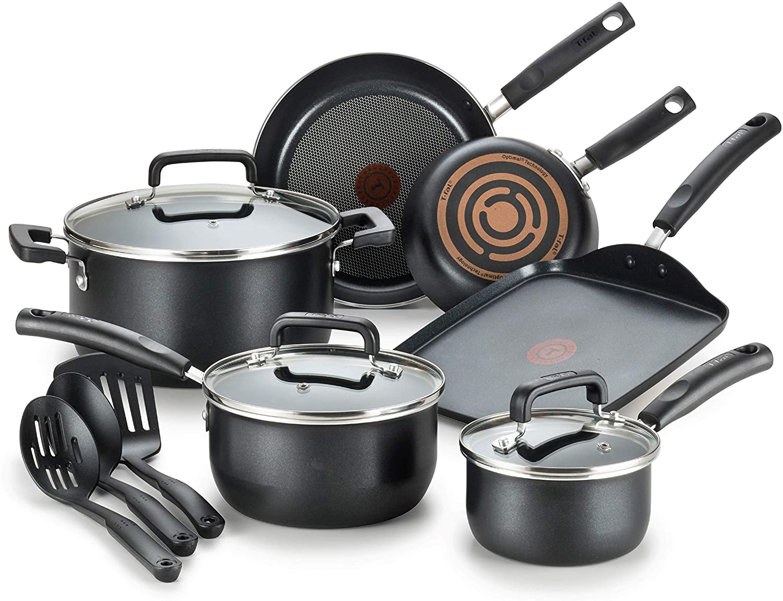 T-fal Signature Nonstick Dishwasher Safe Cookware Set